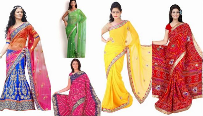 traditional jaipuri sarees, Indian Wedding Rajasthani sarees