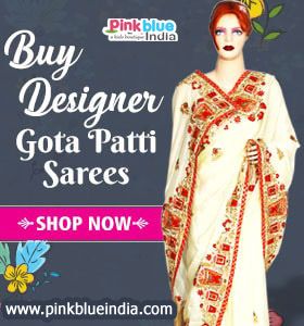 Indian Wedding, party wear designer sarees by PinkBlueIndia