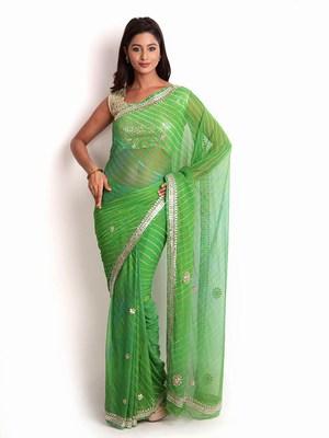 Latest Designer Lehariya Sarees