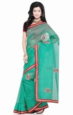 Rajasthani Net Saree with Blouse