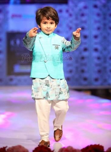 Kids Fancy Kurta Pajama with Modi Jacket, Kids ethnic wear India