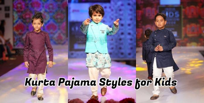 Kurta Pajama styles for Kids - Wedding Baby Kurta Pajama India