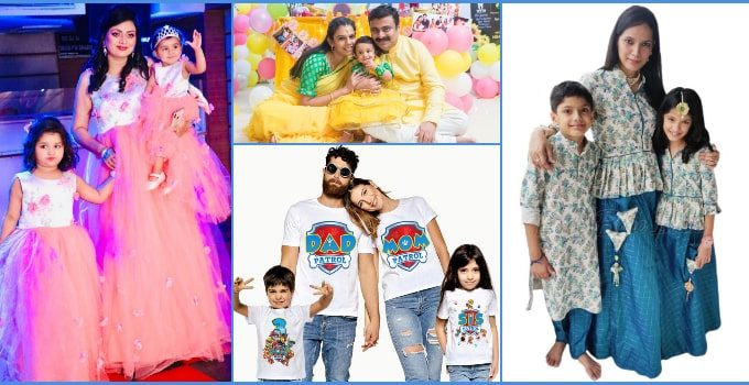 Family Matching Outfits and Clothes for Wedding and Birthday Party