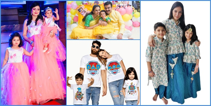 Family Matching Outfits, mother, father and son, daughter Clothes India