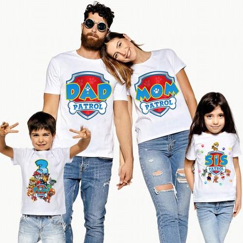 Paw Patrol Birthday Shirt, Matching Paw Patrol T shirts for Family