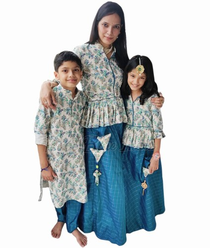 Indian Family Matching Dress for Birthday Party and Wedding Online