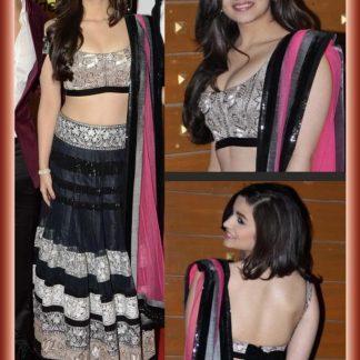 Bollywood Actress Alia Bhatt in Beautiful Net Lehenga-0