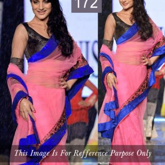 Elegant Ameesha Patel Replica Pink Embroidered Saree-0