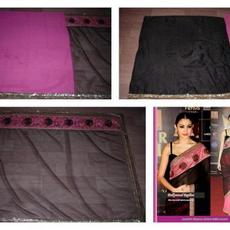 Beautiful Actress Anushka Sharma in a Bold Black Saree-0