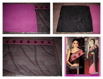 Beautiful Actress Anushka Sharma in a Bold Black Saree-0
