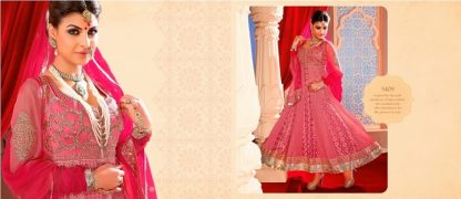 Beautiful Designer Georgette Dress Material in Pink-0