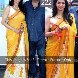 Beautiful Designer Half-Half Saree worn by Sridevi-0