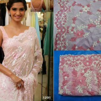 Beautiful Sonam in Pink Embroidered Saree-0