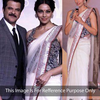 Bollywood Actress Bipasa Basu in Beautiful Net Saree-0