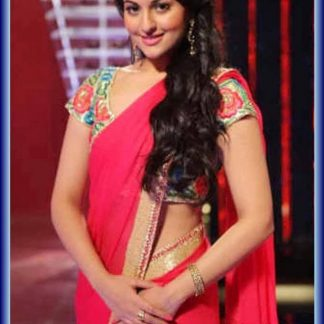 Gorgeous Actress Sonakshi Sinha in a Bright Red Saree-0