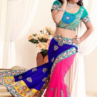 Designer Stylish and Elegant Multi Colour Saree-0