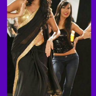 "Awesome Black Saree Worn on The Music Video ""Dhak Dhak""-0"