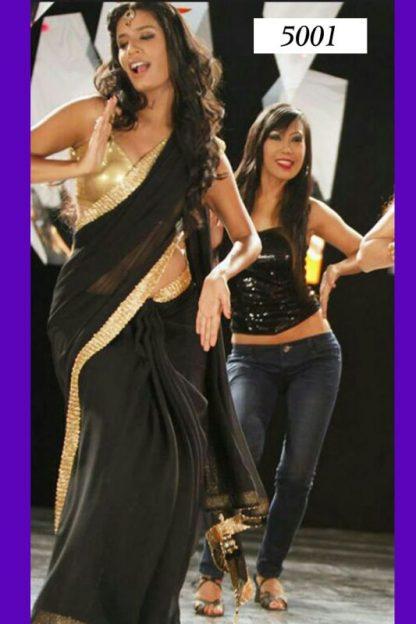 """Awesome Black Saree Worn on The Music Video """"Dhak Dhak""""-0"""