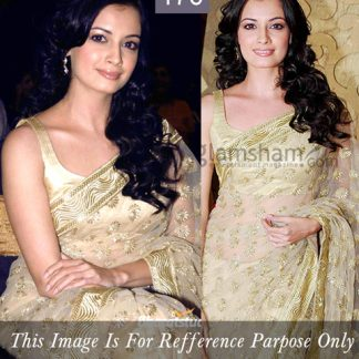 Actrees Diya Mirza in Designer Beige Saree-0