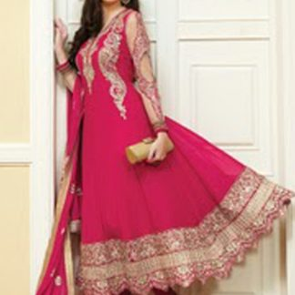 Ethnic Fuschia Pink Salwar Suit On Sale-0