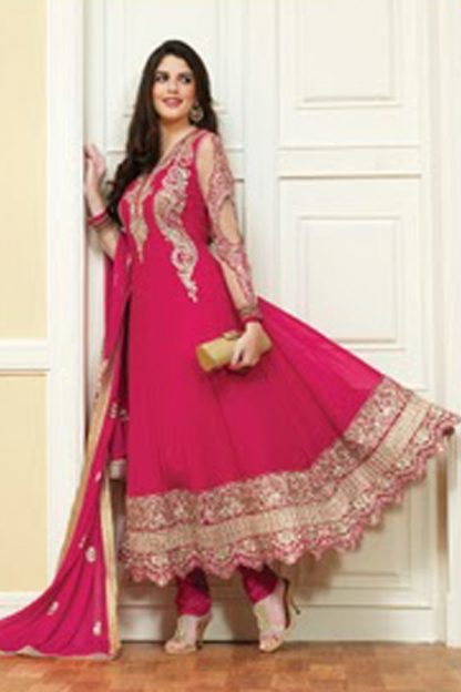 Ethnic Fuschia Pink Salwar Suit On Sale-0