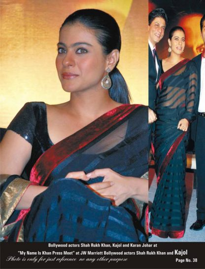 Bollywood Replica of Kajol's Classy Black Saree-0