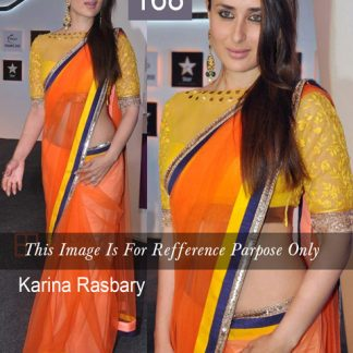 Kareena Kapoor Replica Orange Saree-0