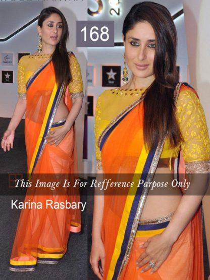 Kareena Kapoor Replica Orange Saree-0
