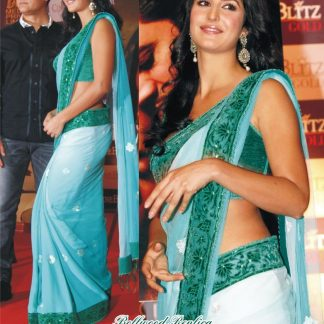 Actress Katrina Kaif's Plain Net Saree-0