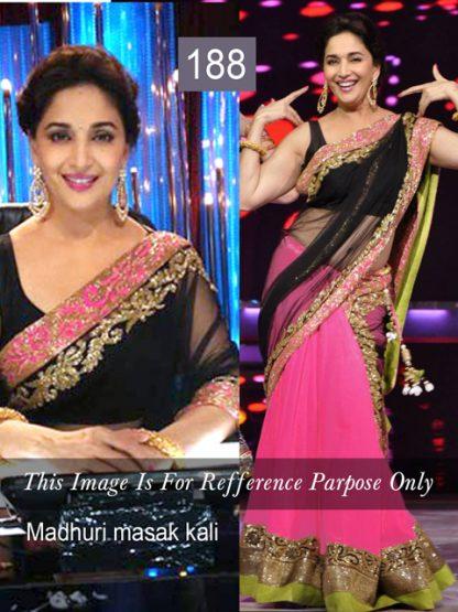 Stylish Madhuri Dixit in Pink Lehenga-0