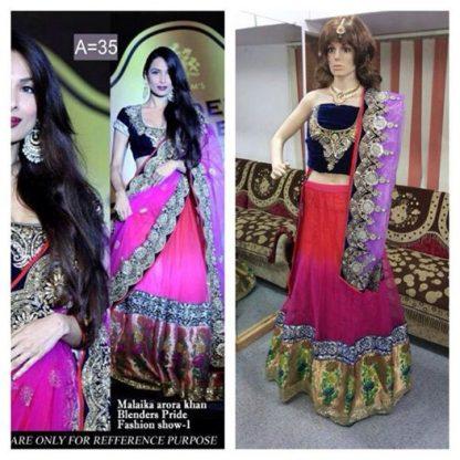 Bollywood Diva Malaika Arora Khan Replica Bridal Lehenga-0