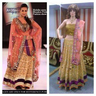 Trendy Malaika Arora Khan Replica Bridal Lehenga-0