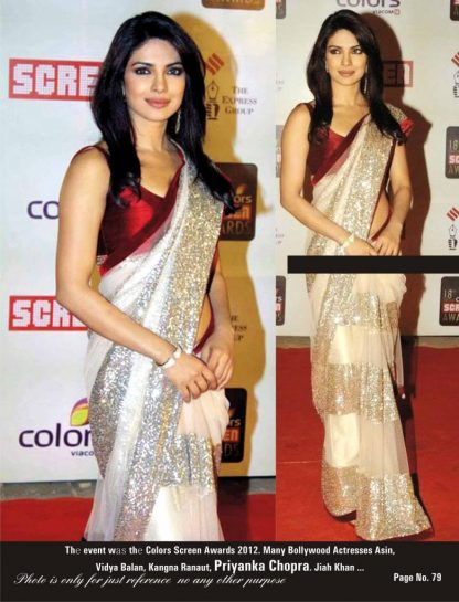 Bollywood Diva Priyanka Chopra Stylish Saree-0