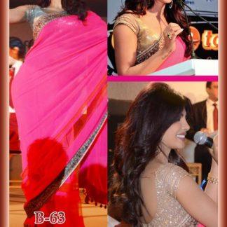 Beautiful Actress Priyanka Chopra Wearing a Bright Pink Saree-0