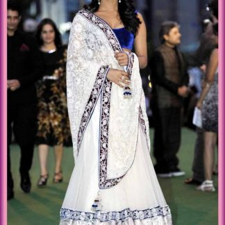 Bollywood Actress Priyanka Chopra in Beautiful White Lehenga-0
