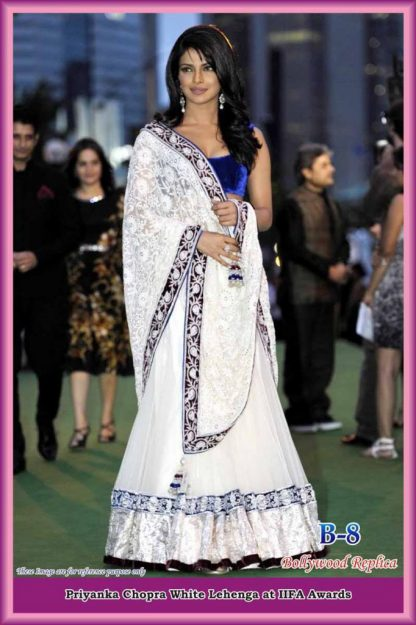 Bollywood Actress Priyanka Chopra in Beautiful White Lehenga-0