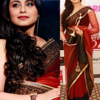 Gorgeous Rani Mukherjee in Red Saree-0