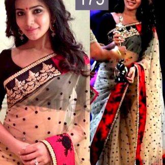 Charming Samantha in Designer Cream Saree-0