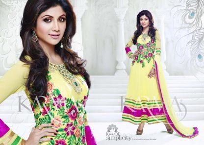 Shilpa Shetty Designer Georgette Ethnic Salwar Suit-0
