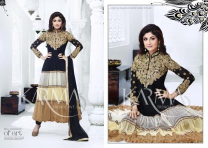 Shilpa Shetty Designer Semi-Stitched Anarkali Suit-0