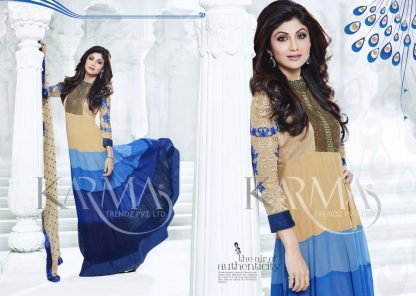 Bollywood Actress Shilpa Shetty in Goergette Salwar Suit-0