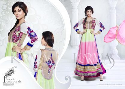 Indian Actress Shilpa Shetty In A Semi-Stitched Salwar Suit-0