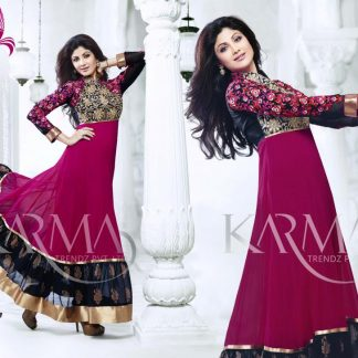 Shilpa Shetty Stylish Semi-Stitched Salwar Suit-0