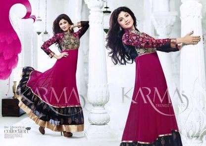Shilpa Shetty Stylish Semi-Stitched Salwar Suit-0