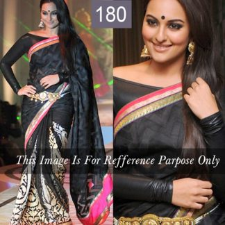 Sonakshi Replica Stylish Black Saree-0