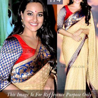 Bollywood Celebrity Sonakshi Tussar Butti Saree-0