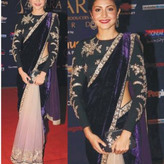 Stylish Saree worn by Anushka Sharma in Apsara Award-0