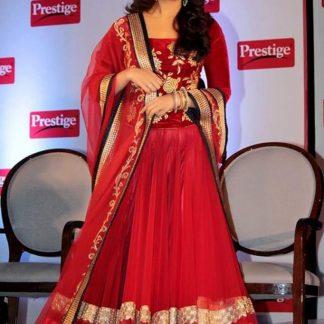 Aishwarya Rai Bacchan Red Designer Lehenga-0