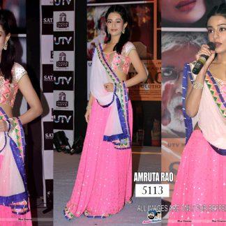Bollywood Replica Amrita Roa in Pink Designer Lehenga-0