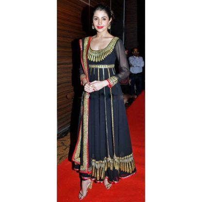 Beautiful Black Anarkali Suit worn by Anushka Sharma-0